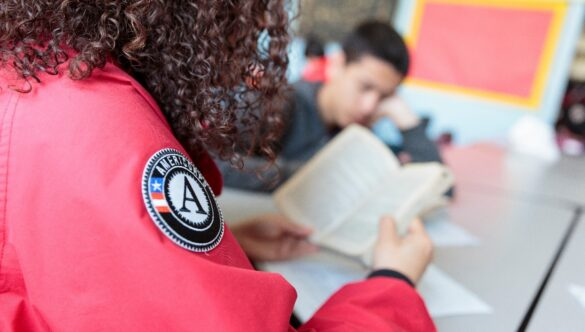 City Year AmeriCorps member service volunteer teaching