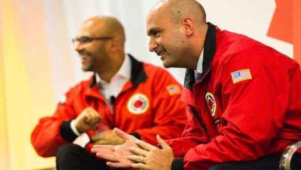 Dr Vitti speaking at City Year event