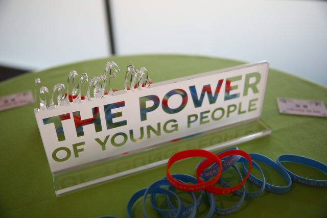 belief in the power of young people sign