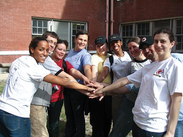 City Year alumni doing a spirit break
