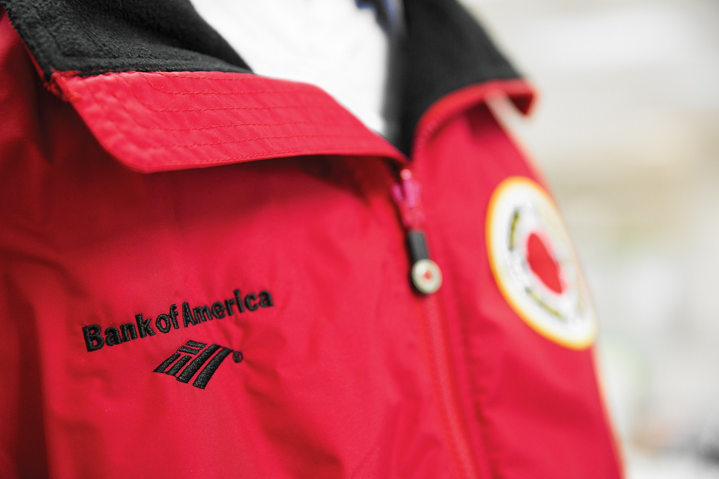 Red jacket with Bank of America logo and City Year logo