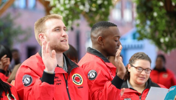AmeriCorps members take the City Year pledge