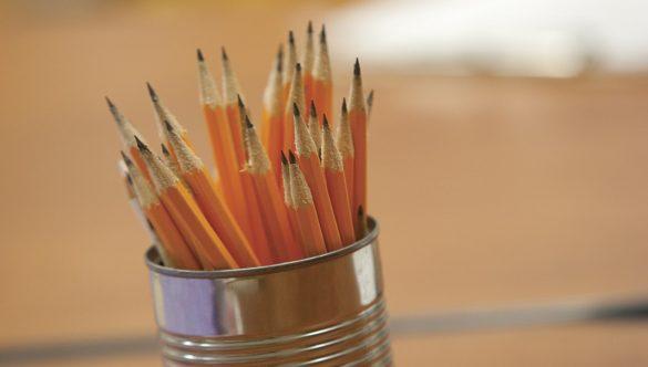 Sharpened pencils.