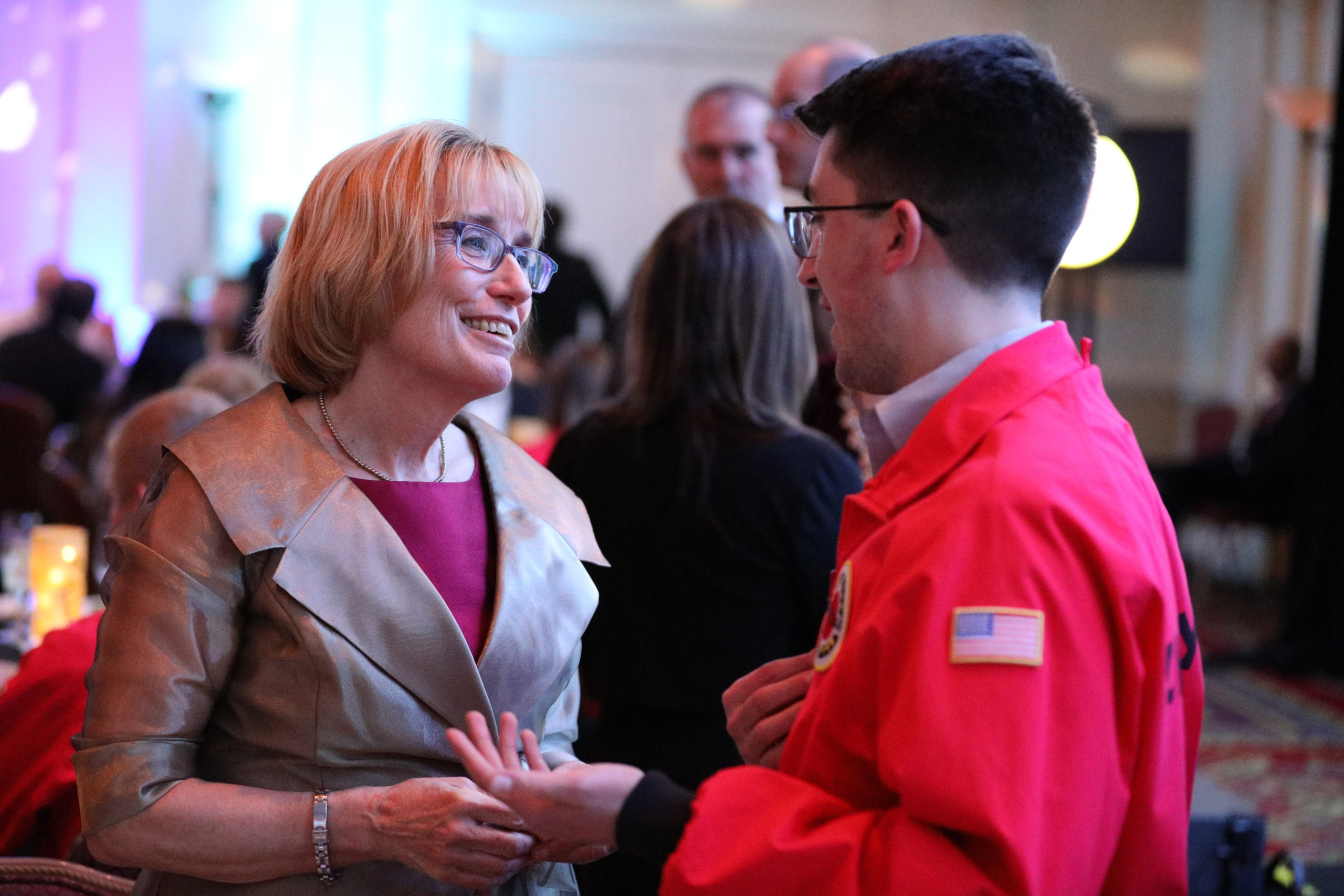 AmeriCorps members meet with political and local leaders at Starry Starry Night.