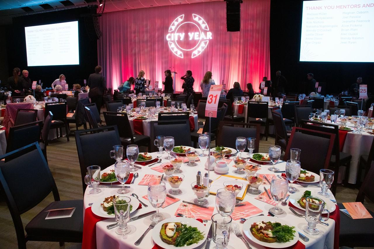 Table Setting at City Year Denver's Women's Leadership Breakfast