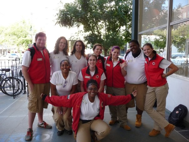 Carolyn Sonnier, CIty Year Baton Rouge alum, is pictured (center) with her teammates