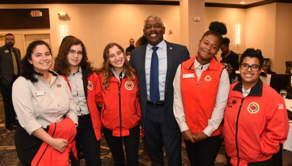 City Year AmeriCorps members at Orlando Idealist Breakfast event