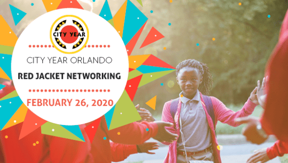 City Year Orlando Red Jacket Networking event header
