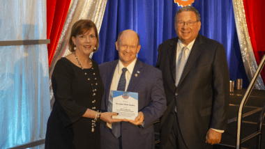 Sen. Chris Coons receives the John S. McCain Service to Country Award