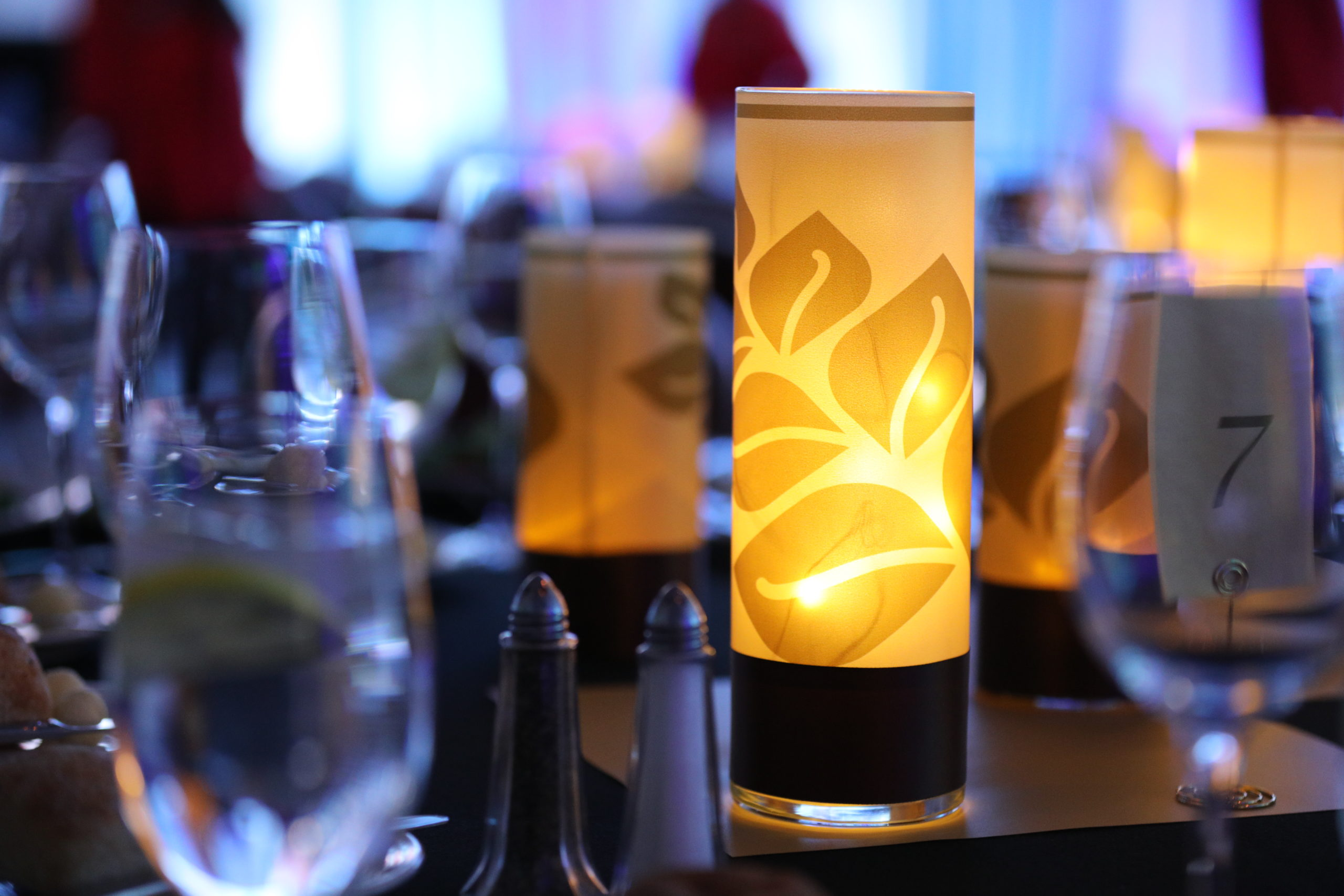 Table settings at New Hampshire's Starry Starry Night