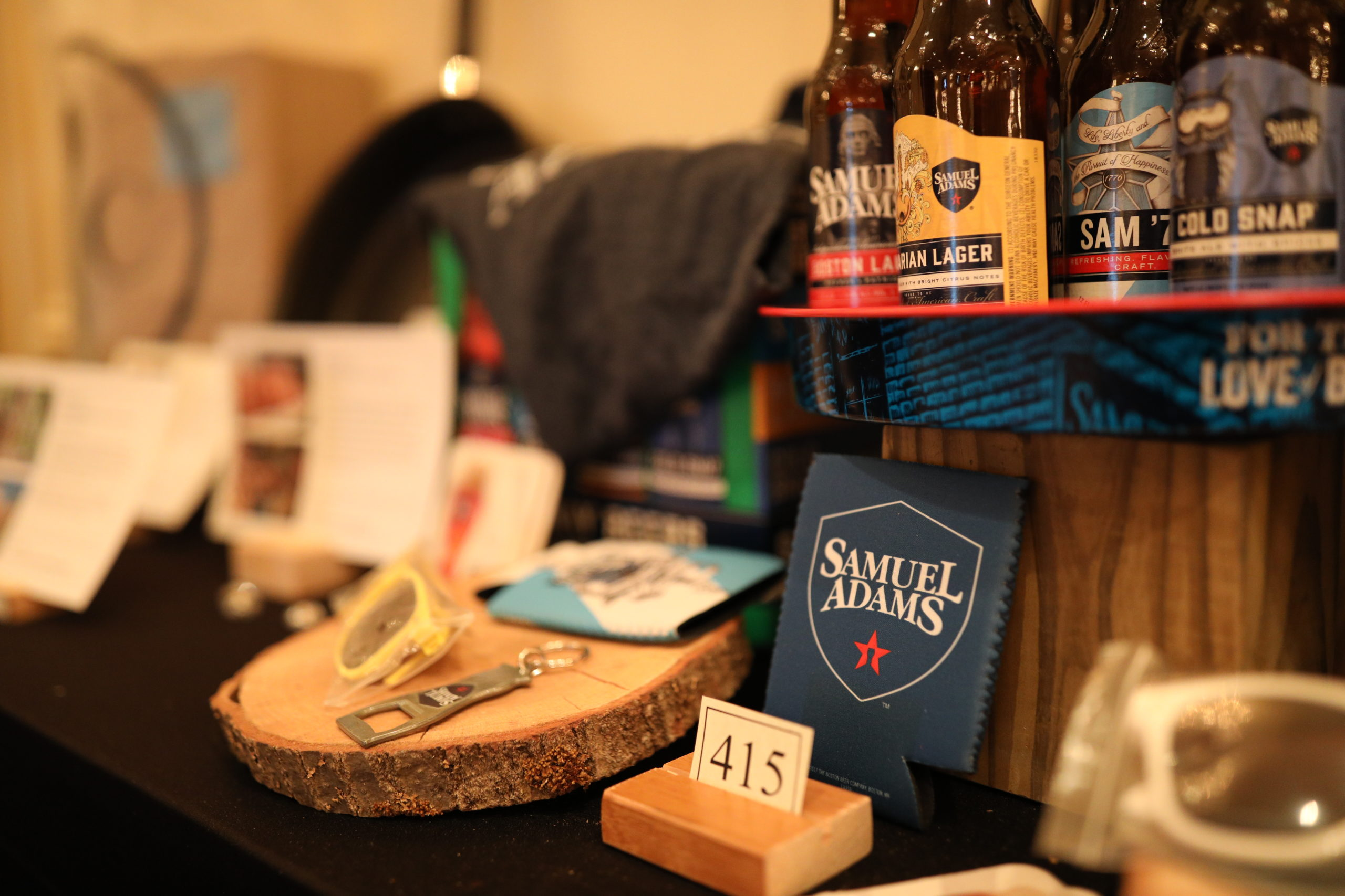 Silent auction items at Starry Starry Night