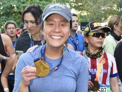 Sherry Leung completes her first marathon in honor of City Year