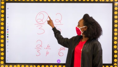 City Year AmeriCorps member virtual learning practices