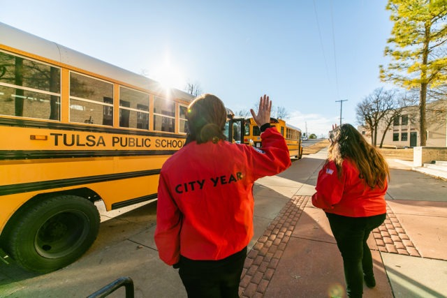 City Year AmeriCorps members serving students before during and after school