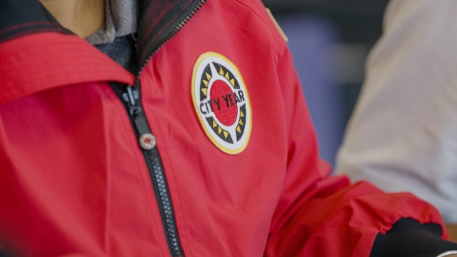 City Year AmeriCorps red jacket