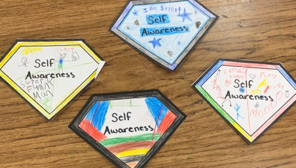 Badges from Meredith's Super Leaders Club
