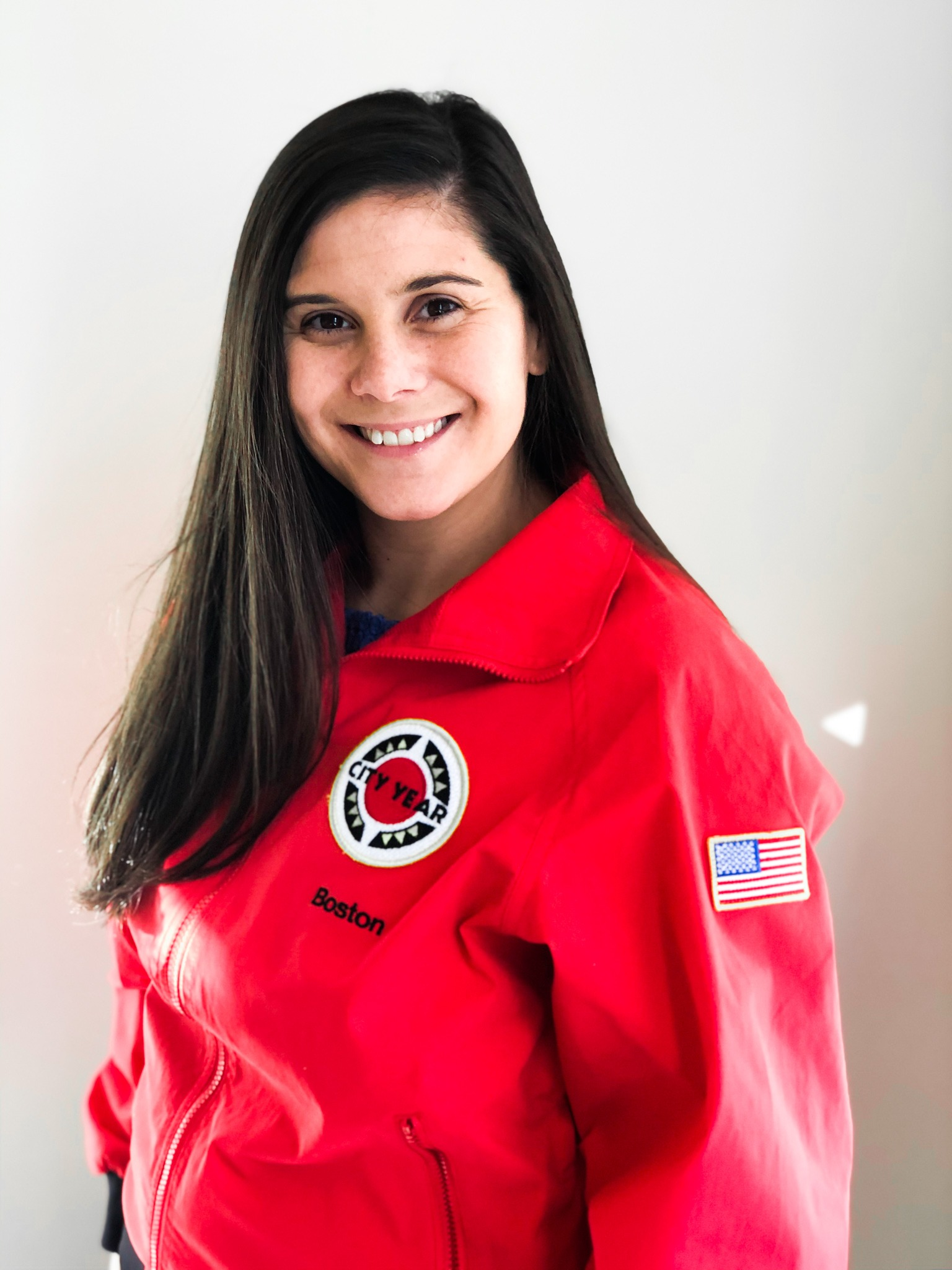 Briana Gochenour in a CY red jacket
