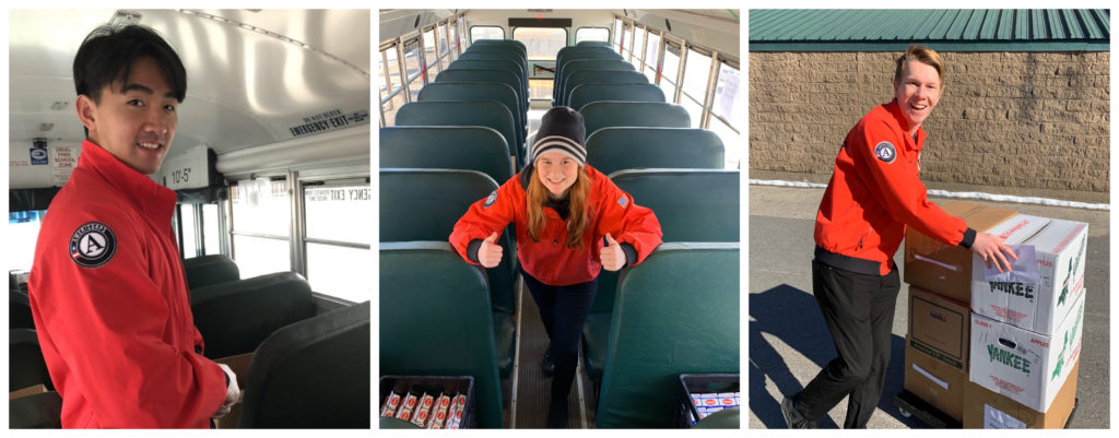 CYNH AmeriCorps members help with bus deliveries during COVID-19
