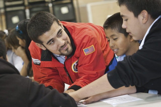 City Year AmeriCorps in school service