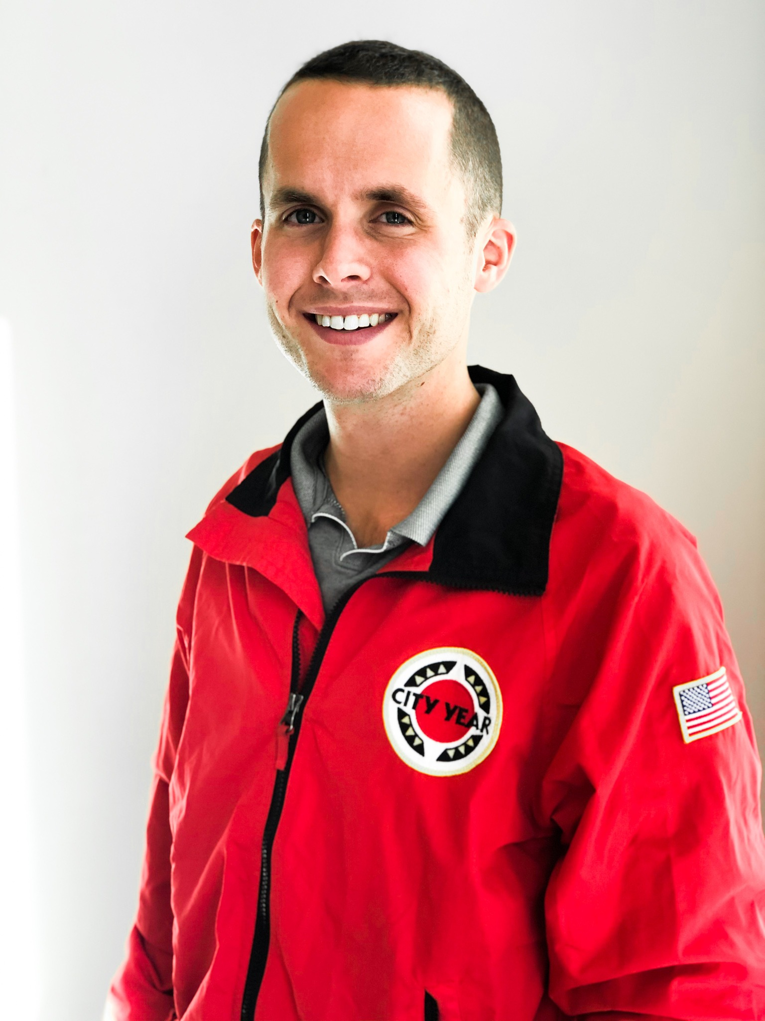 Richard Knight in a red CY jacket