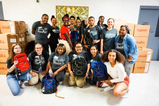 City Year Milwaukee AmeriCorps members volunteer with Running Rebels