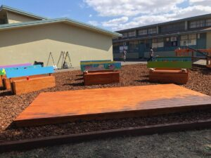 An outdoor classroom is shown.