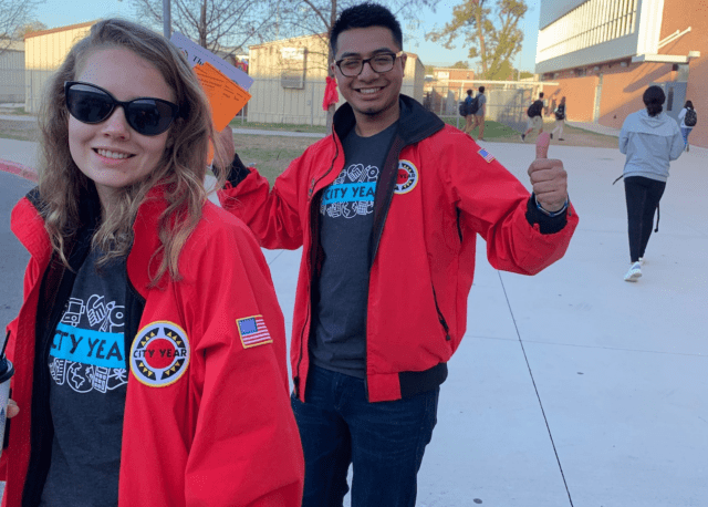City Year AmeriCorps members in school service