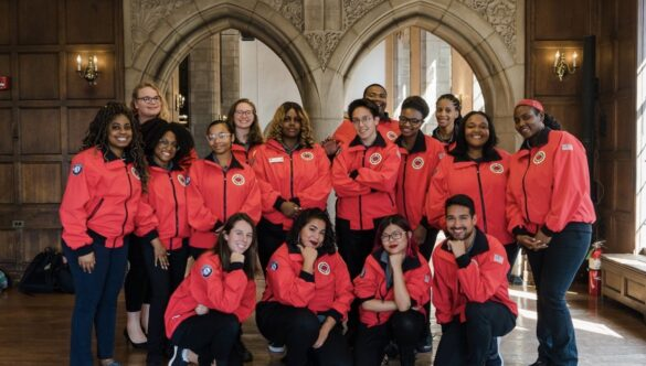 City Year team promoting educational equity