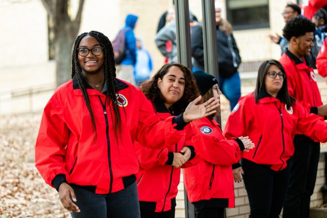 City Year AmeriCorps members ready to work with students