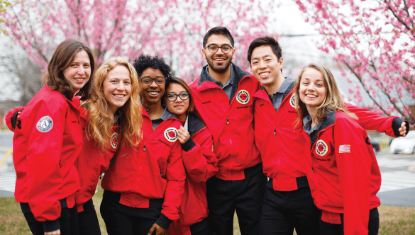 City Year AmeriCorps members together