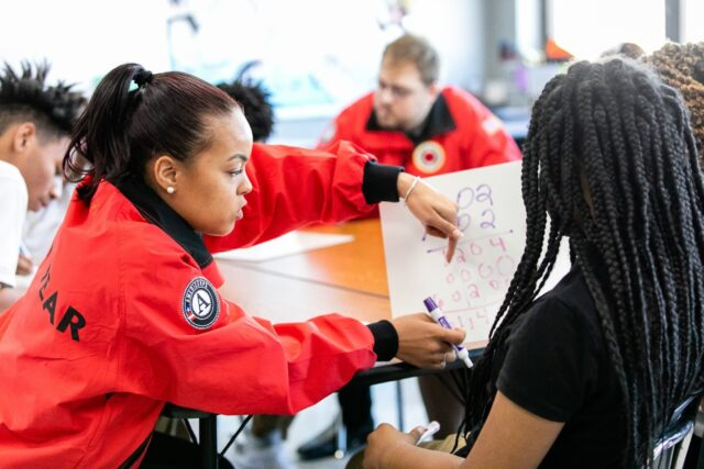 City Year AmeriCorps member mid year service